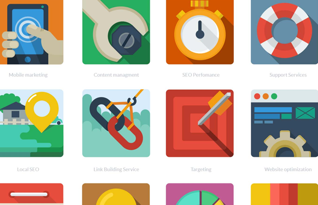 12 freebie seo icons pack kit