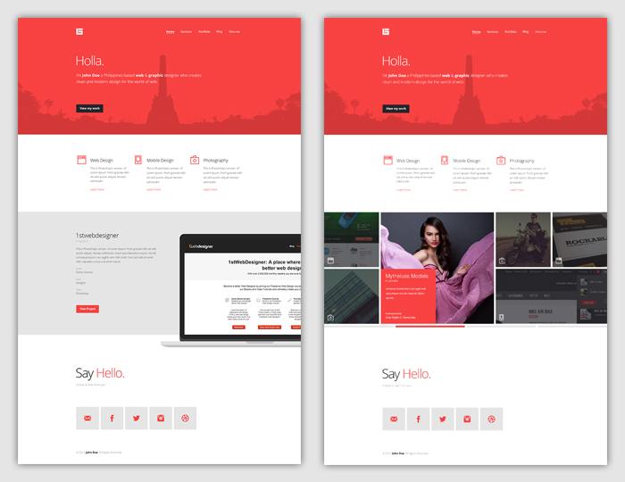 Flat Web Design Tutorial – Portfolio Landing Page