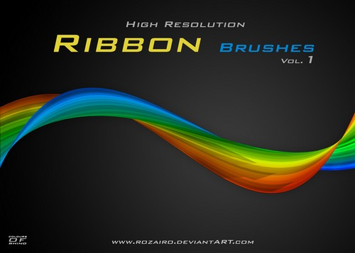 Great Free Ribbon Photoshop Brushes For You