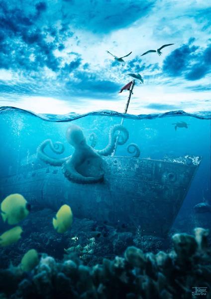 Create a Realistic Underwater Scene in Photoshop