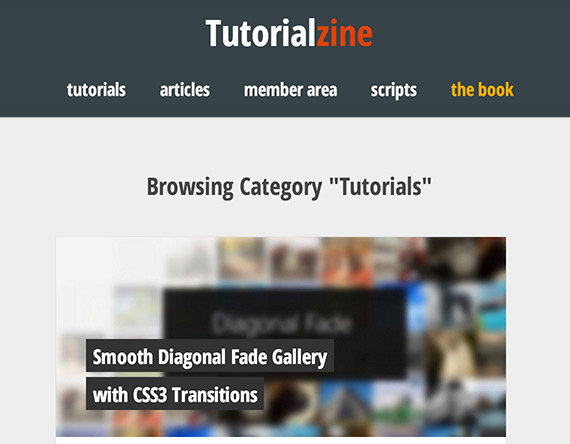 Tutorialzine web design blog top blogs follow