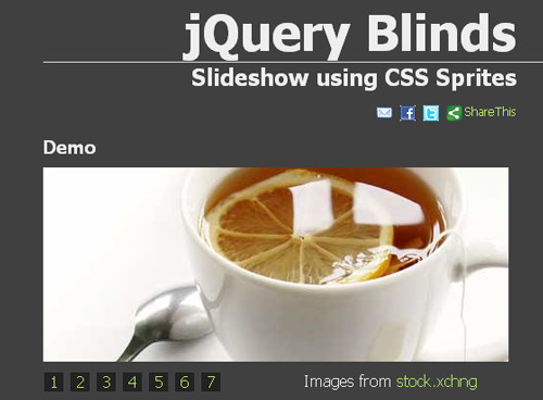 jQuery Blinds