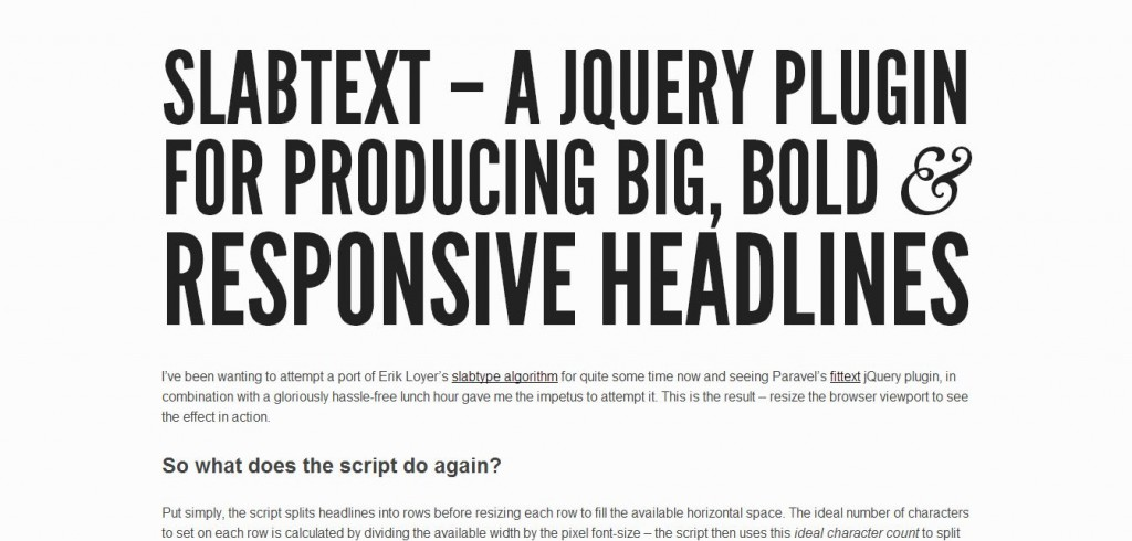 10 jquery plugins for typography problems