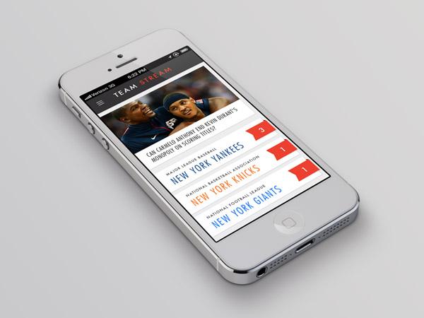 Team Stram App Concept by Sean Chin