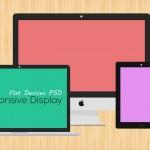 Free Flat Responsive Web Mockups PSD