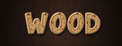 Decorated Wood Text Effect