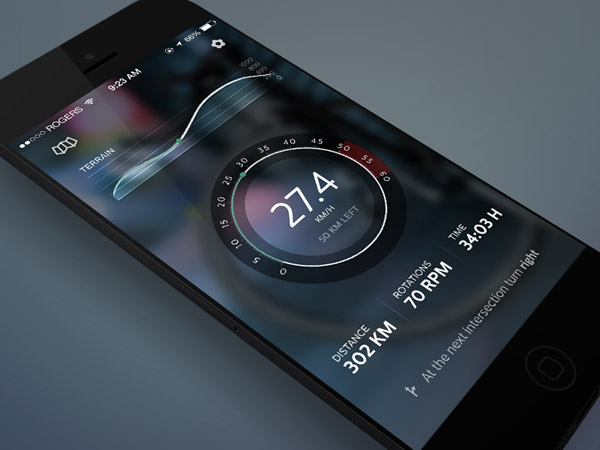 CyclingApp Concept by Stoica Alexandru