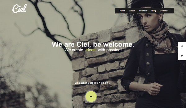 ciel-responsive-wordpress-single-theme