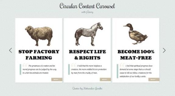 Circular Content Carousel
