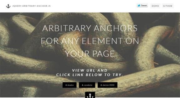 Arbitrary Anchor JS