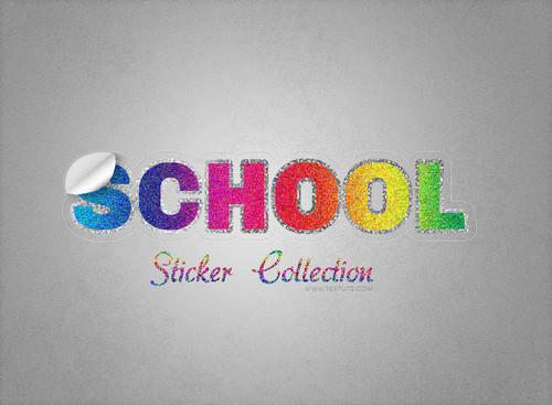 Vintage Sparkly Sticker Inspired Text Effect