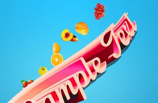 3 paste 2 550x358 Create Fresh Fruit 3D Text Effect in Photoshop