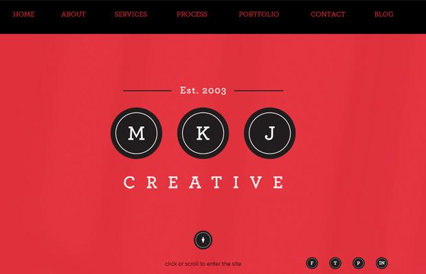 mkj creative agency parallax layout