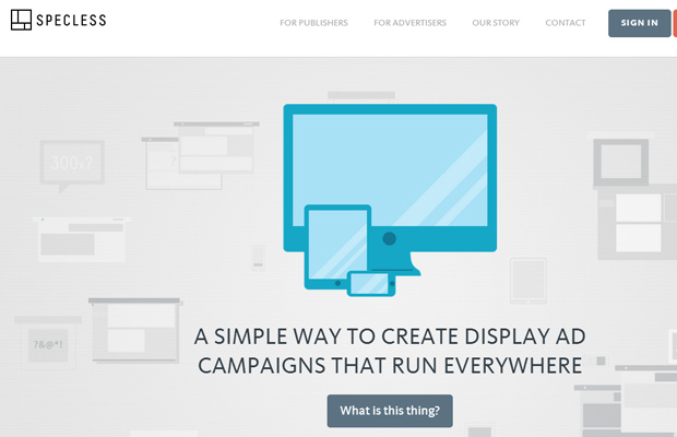 responsive banner ads specless website layout