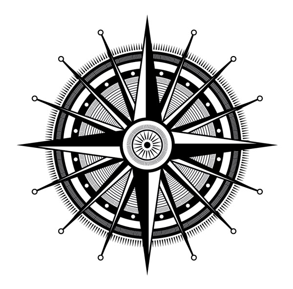 How To Create an Ornate Compass Rose in Illustrator