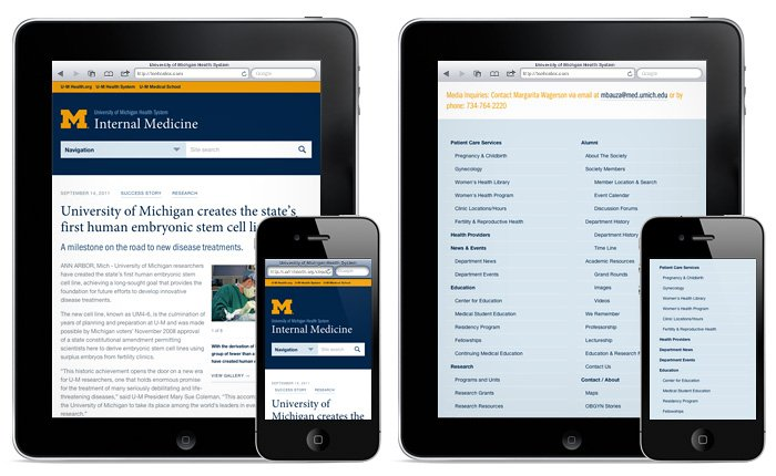 Scalable Navigation Patterns in Responsive Web Design