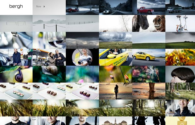 photography website portfolio anders bergh layout