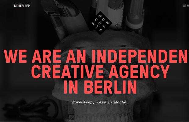 moresleep agency design website parallax animated