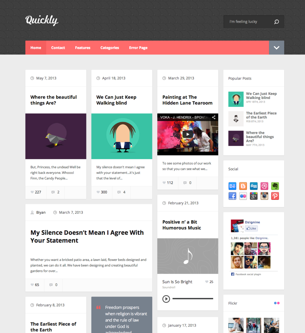 30 Masonry WordPress Themes