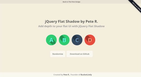 jQuery Flat Shadow