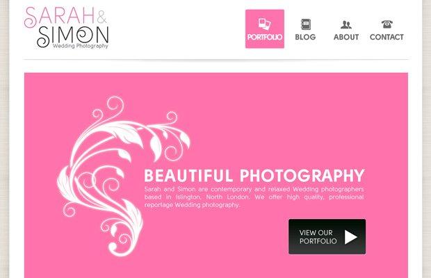 sarah simon wedding photos portfolio layout