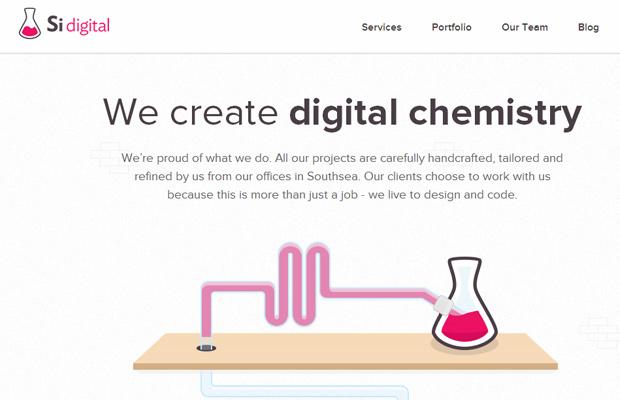 si digital website layout parallax scrolling