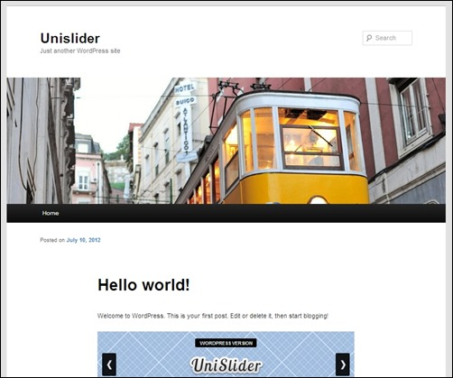 Wordpress-UniSlider-jquery-slider-plugin