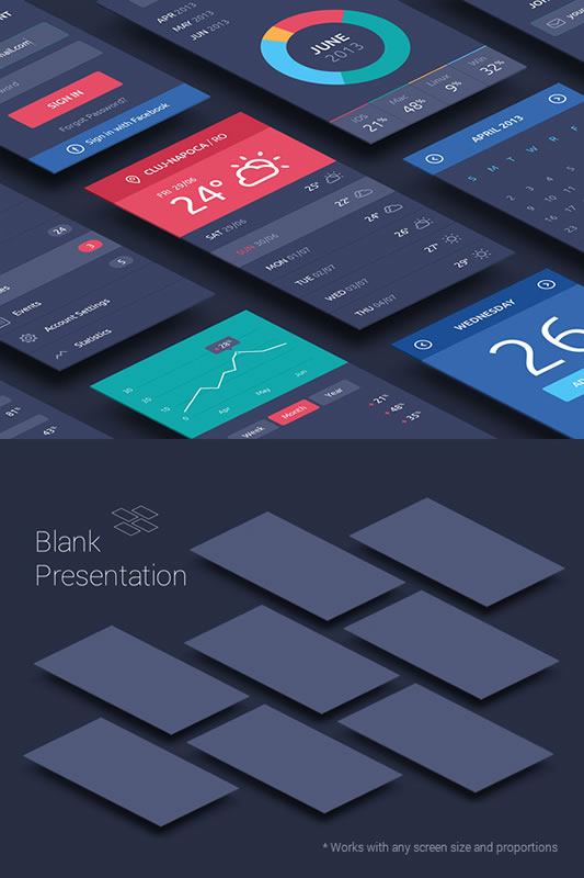 10 Free PSD's for Trendy Perspective App Mockups