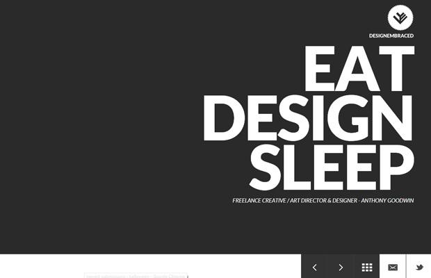 design embraced website layout inspiring design