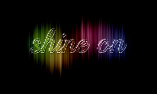 Colorful Sparkling Glass Text Effect