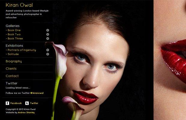 kiran owal photography website portfolio