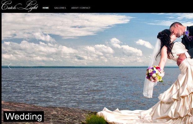 catch light photography website layout