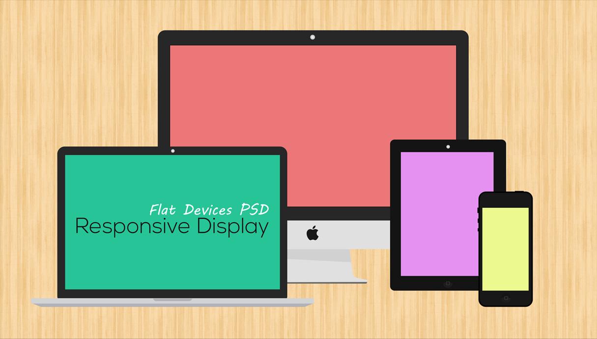 free flat responsive web mockups psd - idevie, Powerpoint templates