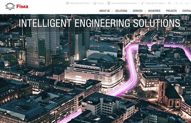 fima website parallax layout design
