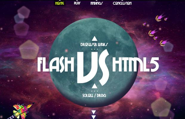 flash vs html5 website design parallax layout
