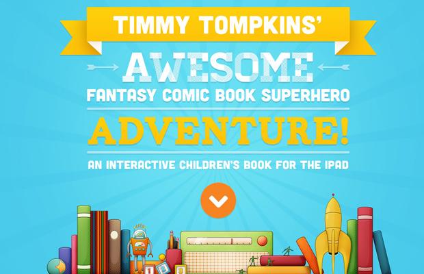 timmy tompkins website parallax animation