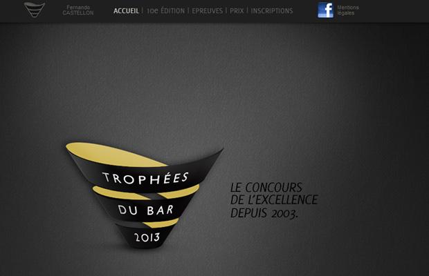 trophees du bar website parallax layout