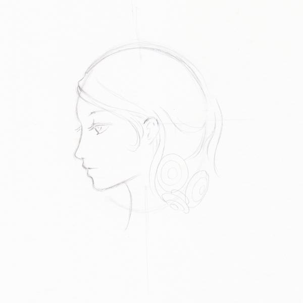 Step 9 - Start to draw head