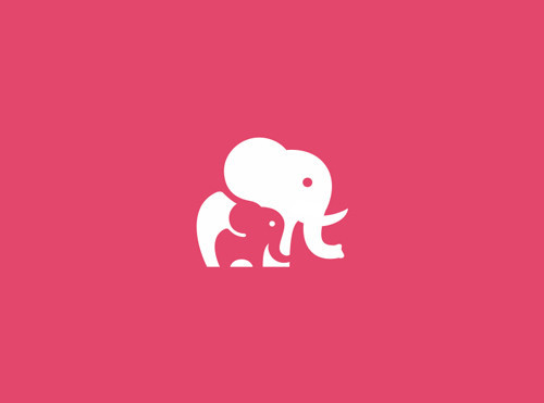 Unused Elephant Mark Icon Logo Design Concept