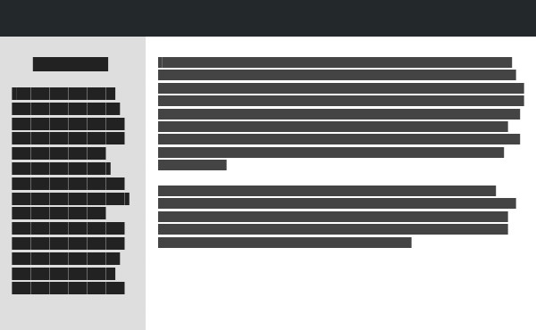 Font sizes and alignment of sidebar elements