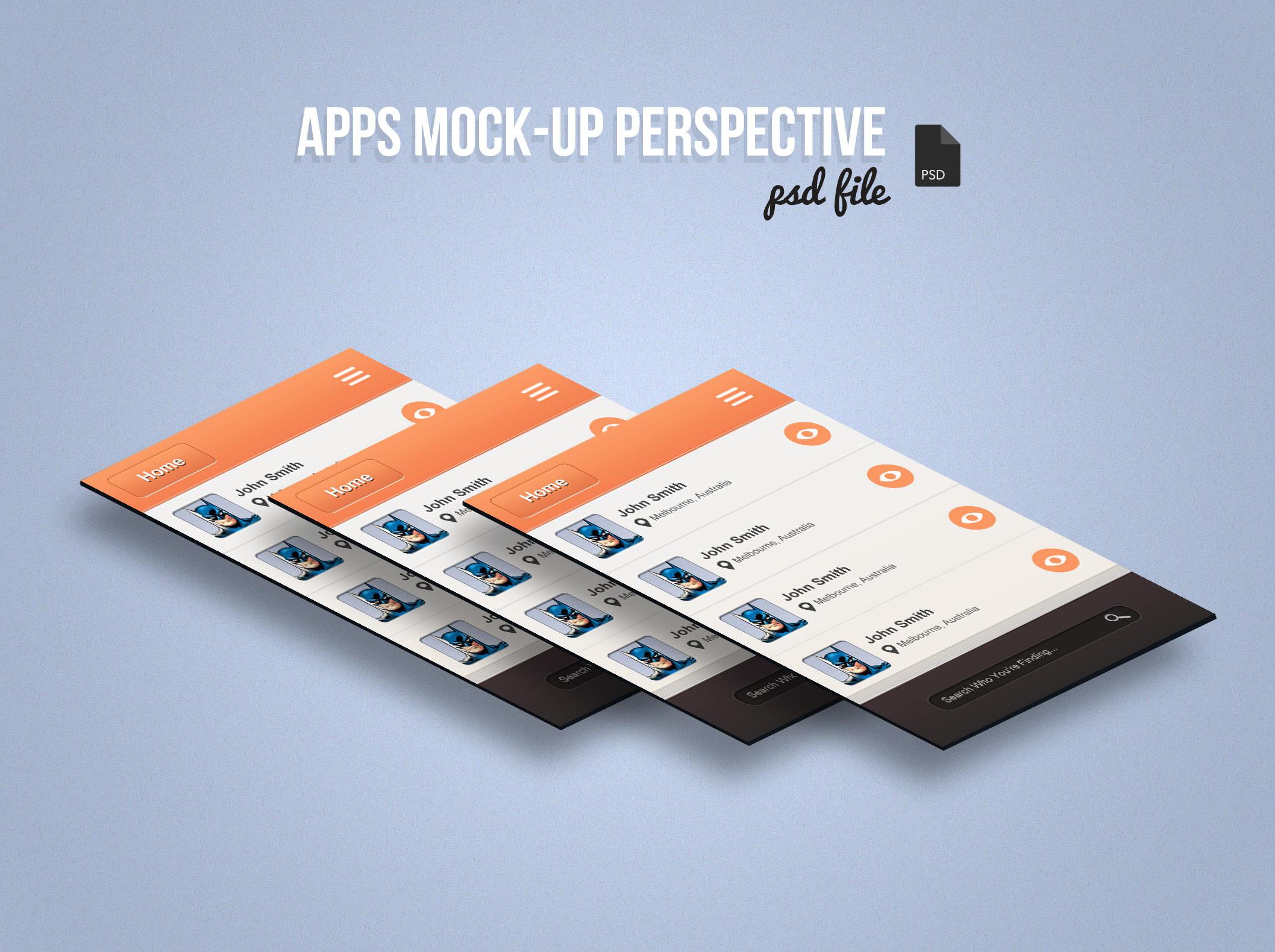 App Screen Mock-Up