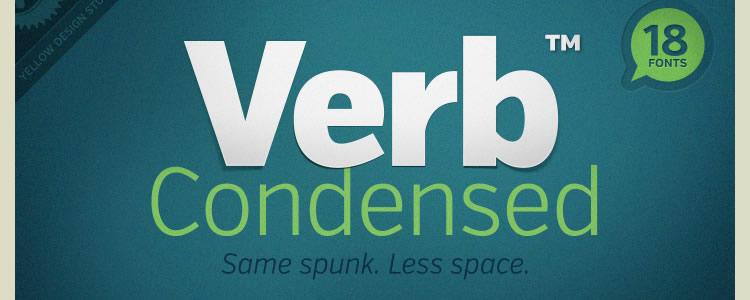 Verb Condensed Regular & Italic +Web Font