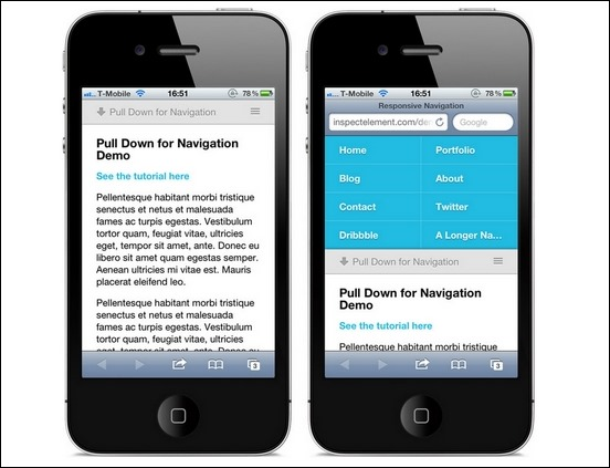 Pull Down For Navigation A Responsive Solution