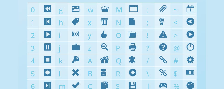 Shock Icon Font 742 Icons, Icon Font