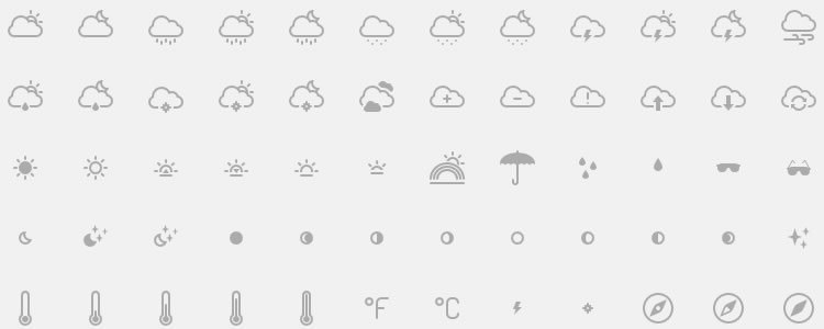 Cumulus Weather Icons 100 Icons, PNG, PDF, EPS & SVG