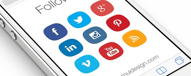 Social Media v2 Icon Pack 10 Icons, PSD, SVG, AI & Icon Font