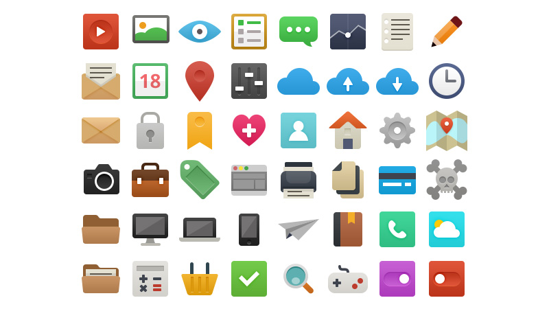 It's Flat - Icon Set