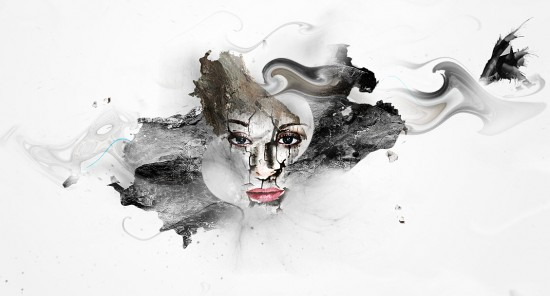 5 effect1 550x296 Artistic Photo Manipulation with Cracked Face Effect in Photoshop