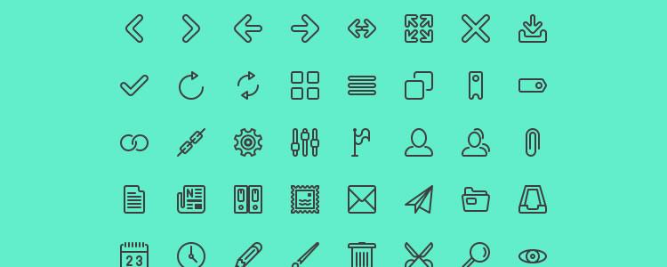 Line Icon Set 124 Icons, PSD, EPS & AI