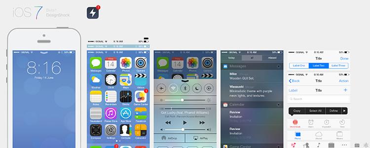 iOS7 Ui Kit PSD